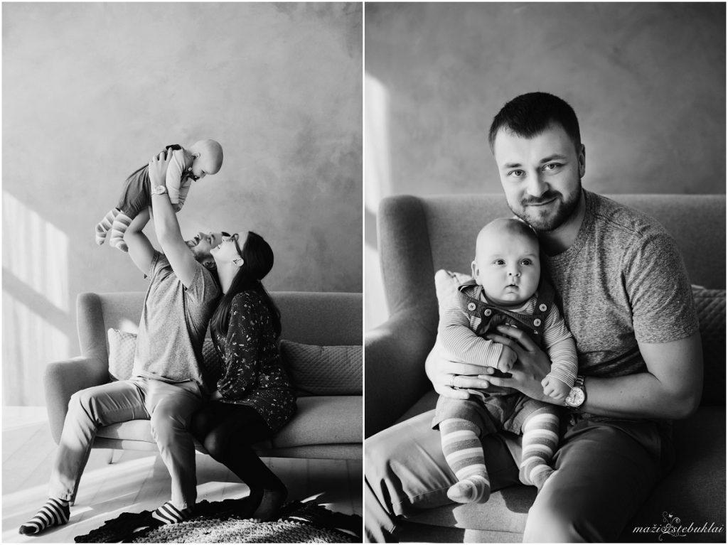 Šeimos fotosesija studijoje